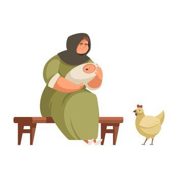 Medieval Woman Illustration