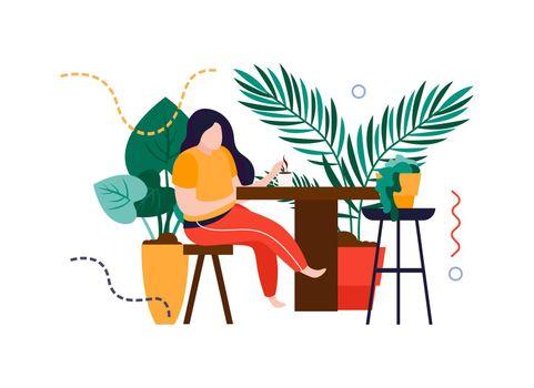 Cozy Home Plants Composition