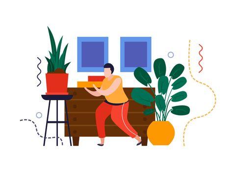 Home Plants Care Composition