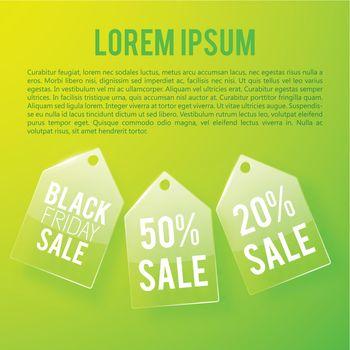 Light Advertising Sale Concept