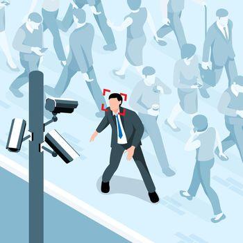 Crowd Camera Surveillance Composition