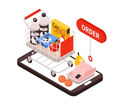 Supermarket Products Online Composition