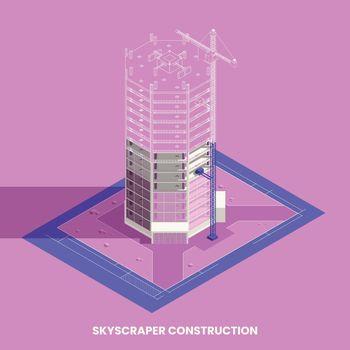 Skyscraper Construction Concept