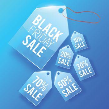 Sale Glass Price Tags Design Concept