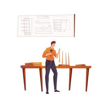 Furniture Maker Illustration
