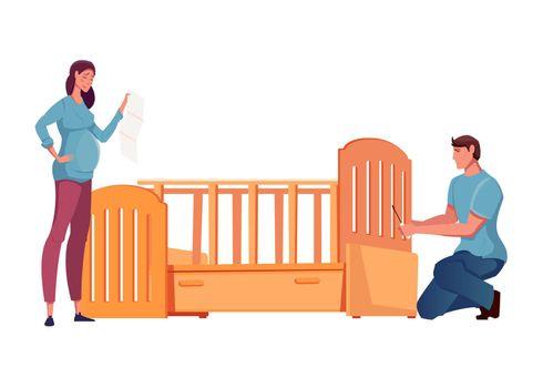 Crib Assembling Icon