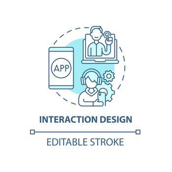 Interaction design concept icon