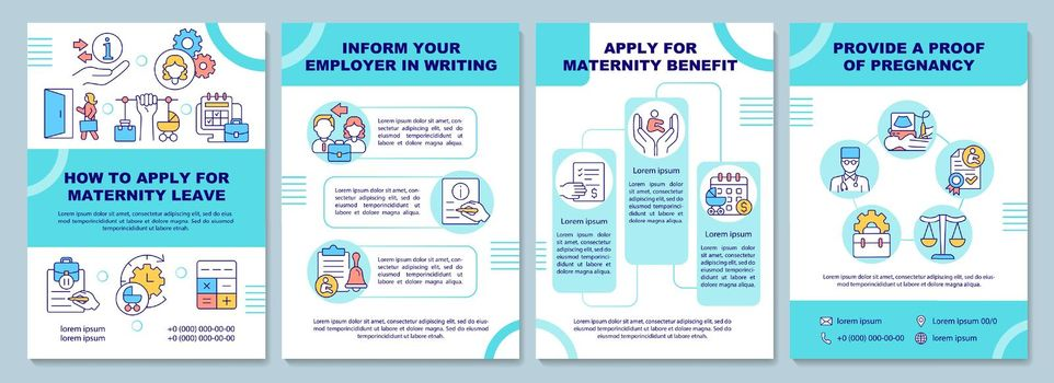 How to apply for maternity leave brochure template