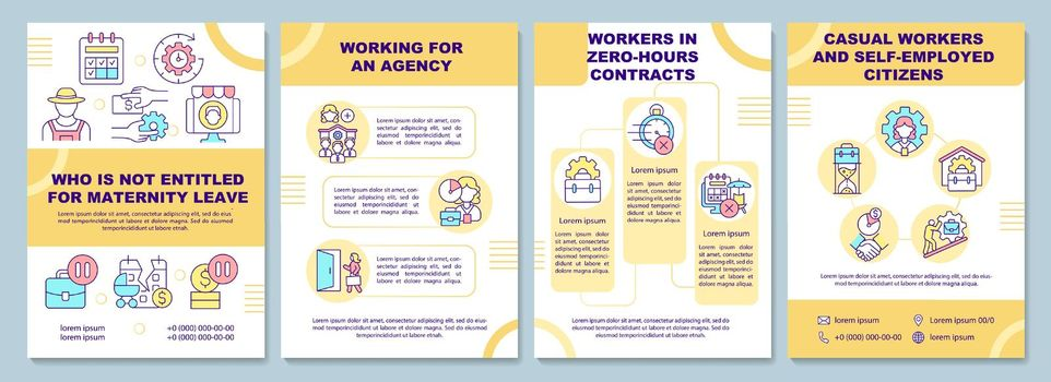 Who is not entitled for maternity leave brochure template