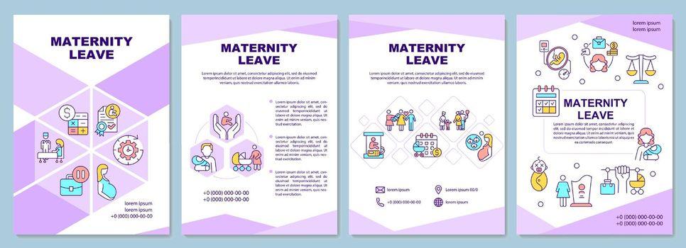 Maternity leave brochure template
