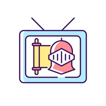 Historical show RGB color icon
