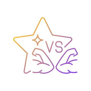 Sports competition reality show gradient linear vector icon