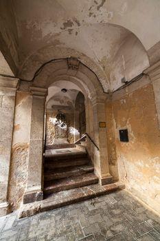 Staircase of the Bonanno palace in Ortigia