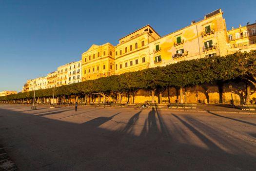 Building at sunset in Ortigia