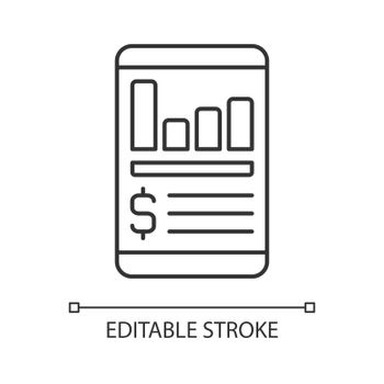 Expense tracker app linear icon