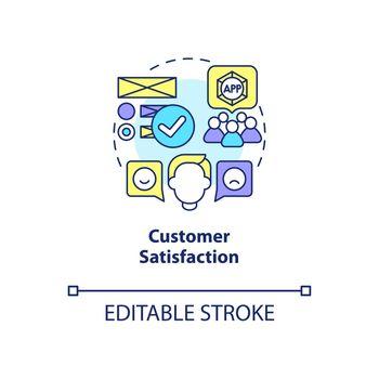 Customer satisfaction concept icon