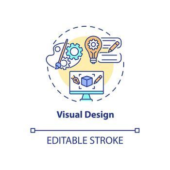 Visual design concept icon