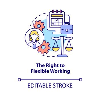 Right to flexible working concept icon