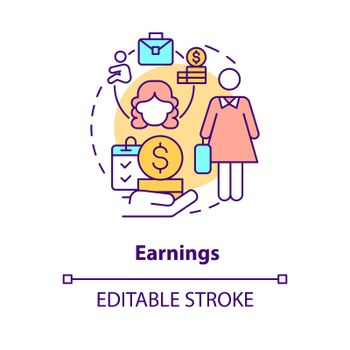 Earnings concept icon