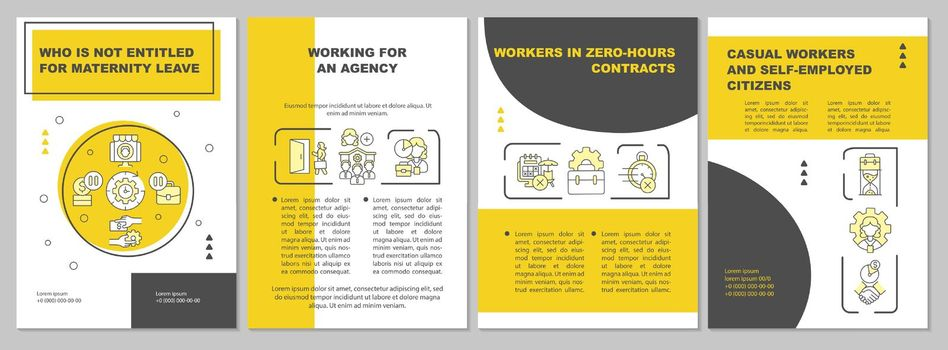 Who is not entitled for maternity leave yellow brochure template