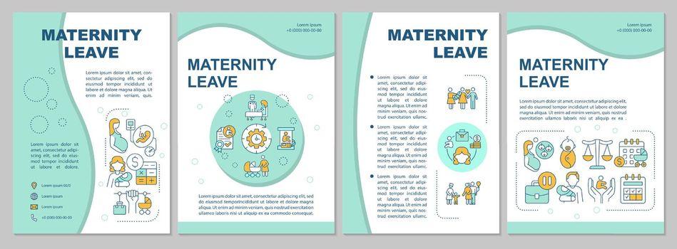 Maternity leave blue brochure template
