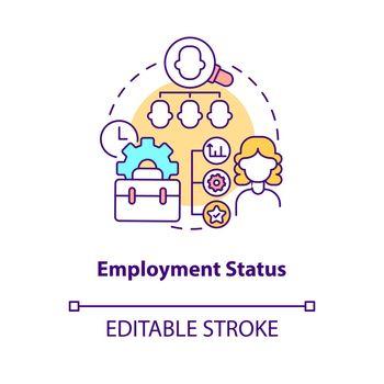 Employment status concept icon