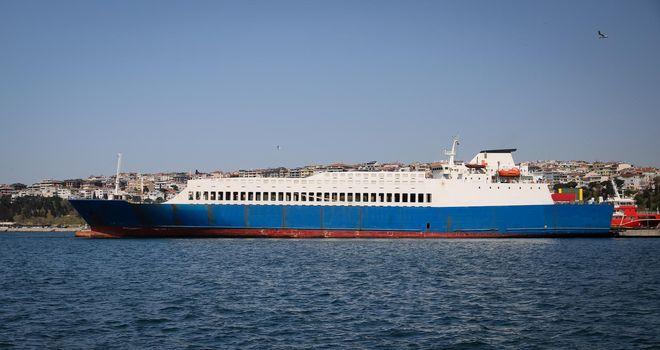 Cargo Ship in Port