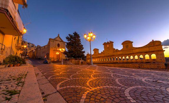 View of Granfonte baroque fountain, Leonforte