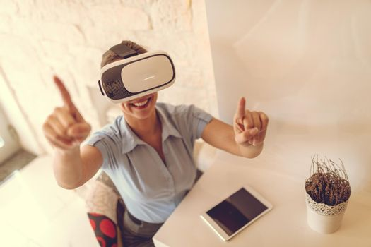 Businesswoman With VR