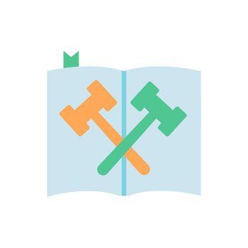 Law and legislation vector flat color icon
