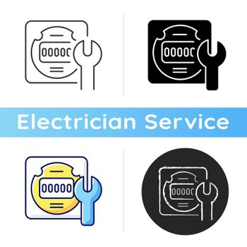 Electrical meter repair icon