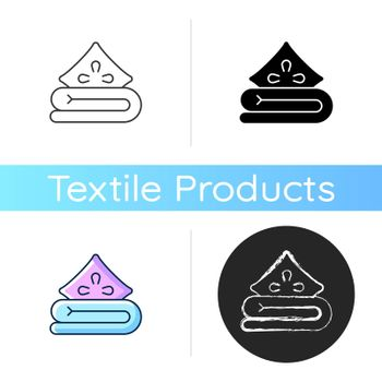 Bed linen icon