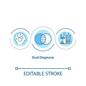 Dual diagnosis concept icon