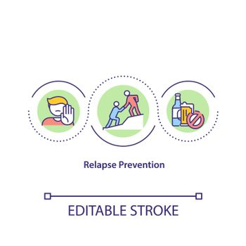 Relapse prevention concept icon
