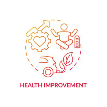 Health improvement concept icon
