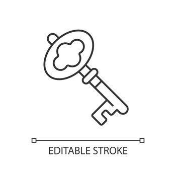 Key linear icon