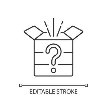 Mystery box linear icon