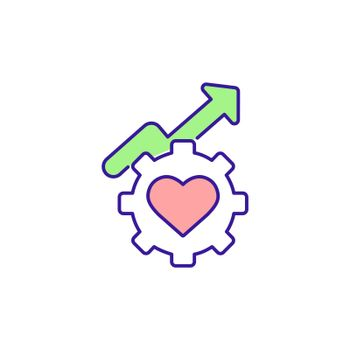 Health and wellbeing improvement RGB color icon