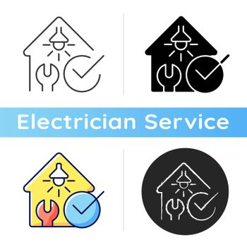 Electrical safety inspection icon