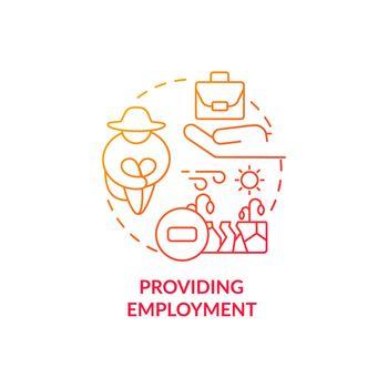 Providing employment concept icon