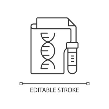 Genetic information privacy linear icon