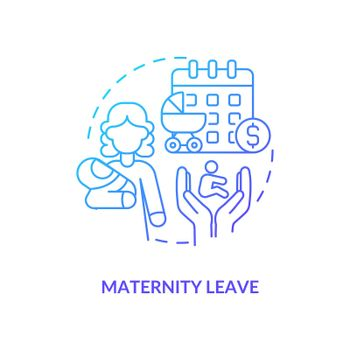 Maternity leave blue gradient icon