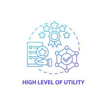 High utility level concept icon