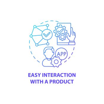 Easy interaction with product concept icon