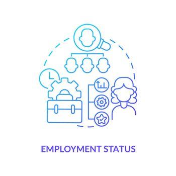Employment status blue gradient icon