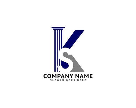 Law Firm Initial KS Letter Logo Design