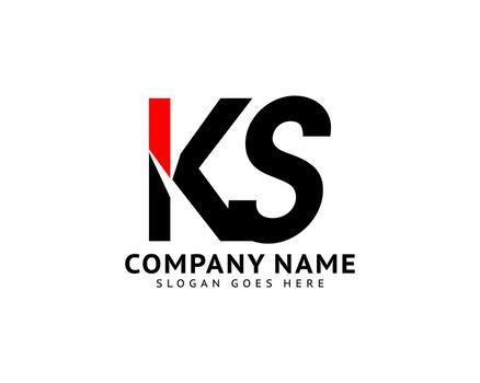 Initial Letter KS Logo Template Design