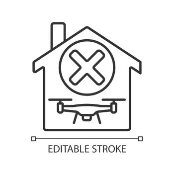 Dont use indoors linear manual label icon