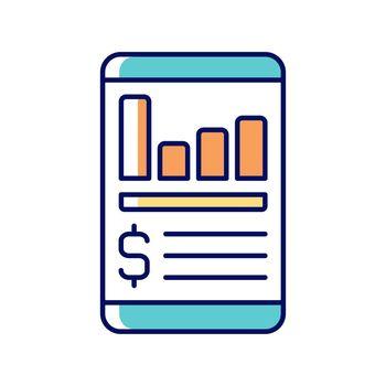 Expense tracker app RGB color icon