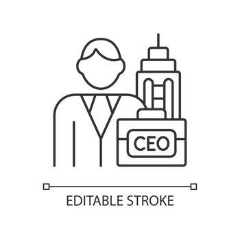 Chief executive RGB linear icon